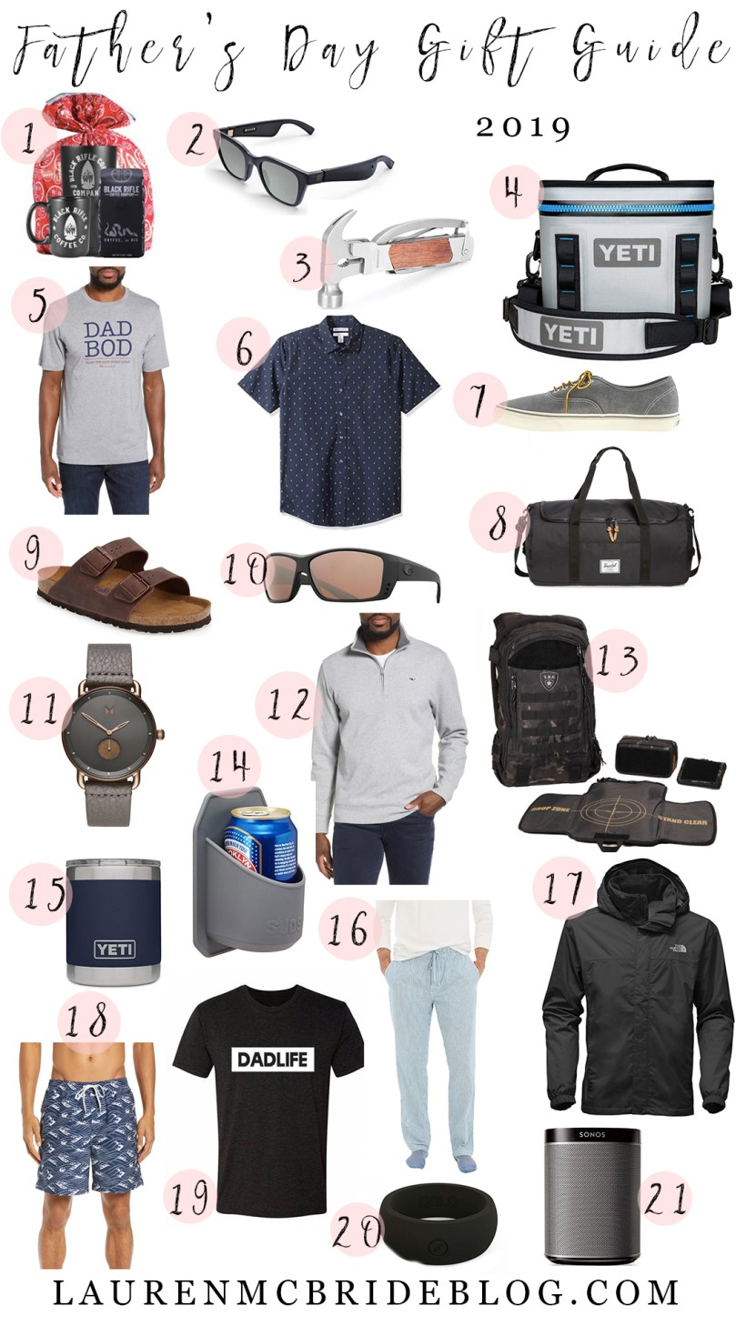 Connecticut life and style blogger Lauren McBride shares her Father's Day Gift Guide for 2019 featuring a variety of items at difference price points.