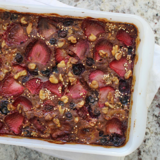 low fodmap quinoa berry breakfast bake