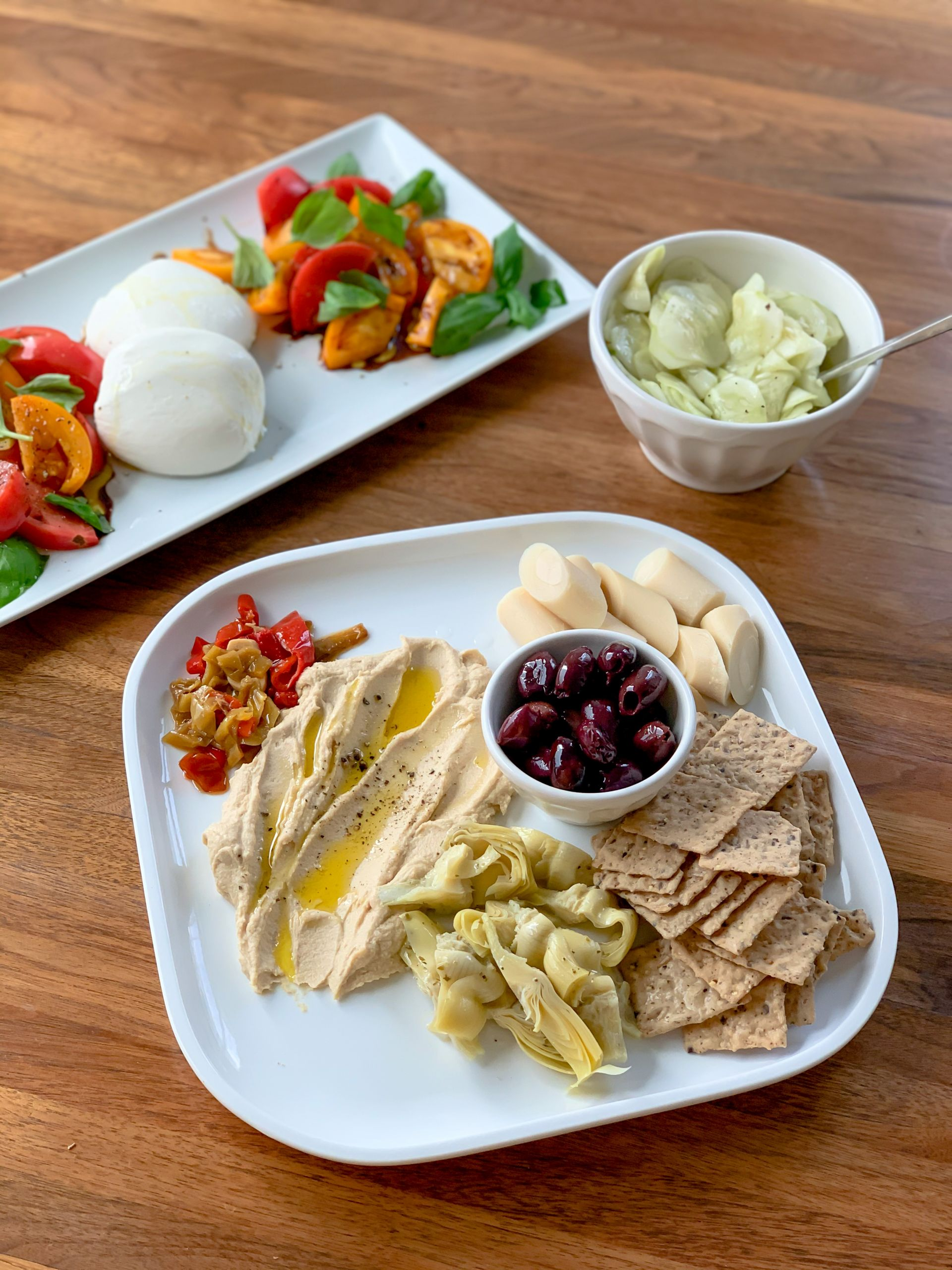 mezze platter - Mediterranean Meal - Simple Eating - Lauren Schwaiger Healthy Lifestyle Blog