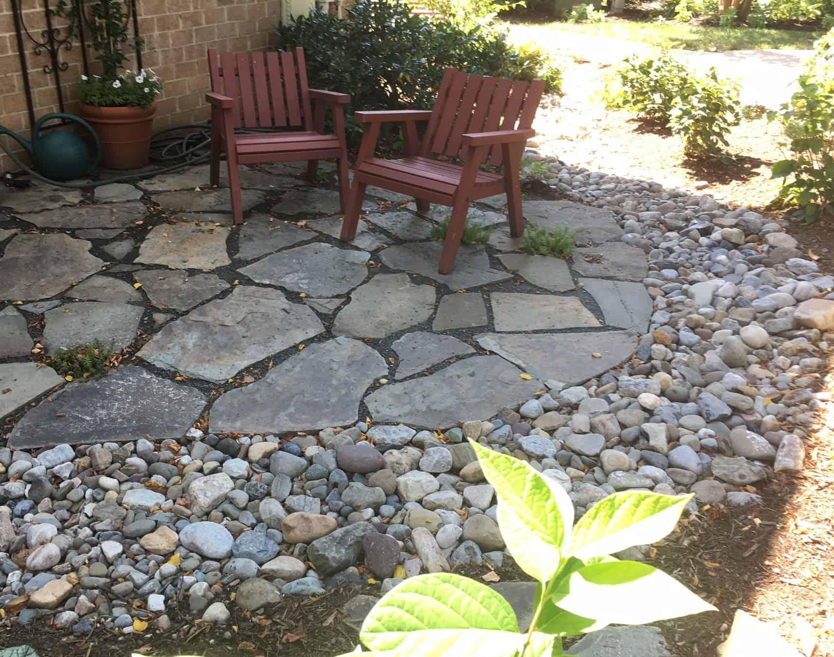 Retaining Walls, Patios, and Walkways on Flagstone Backyard Patio id=87718