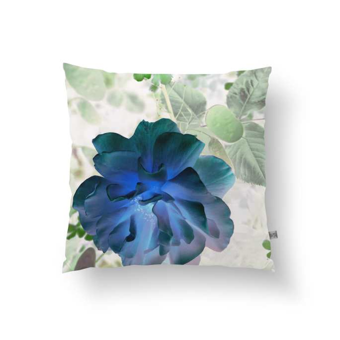 Shimmer Rose Outdoor Cushion Green/Blue