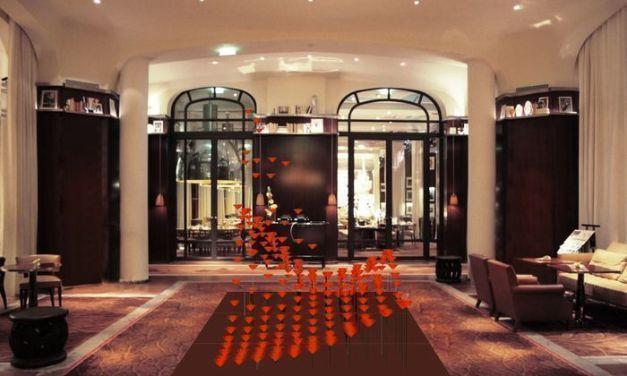 Revisiter les fleurs du lobby d'hôtel