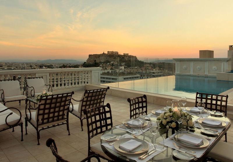 L'iconique hôtel King George à Athènes