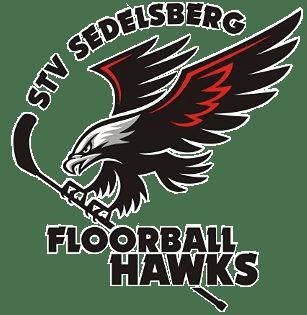 Das Logo der Floorball Hawks aus Sedelsberg.