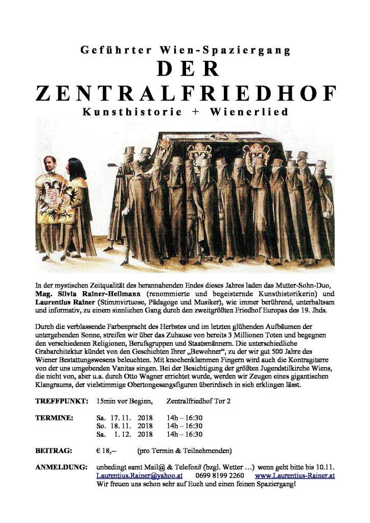 Wienspaziergang: DER ZENTRALFRIEDHOF 2018