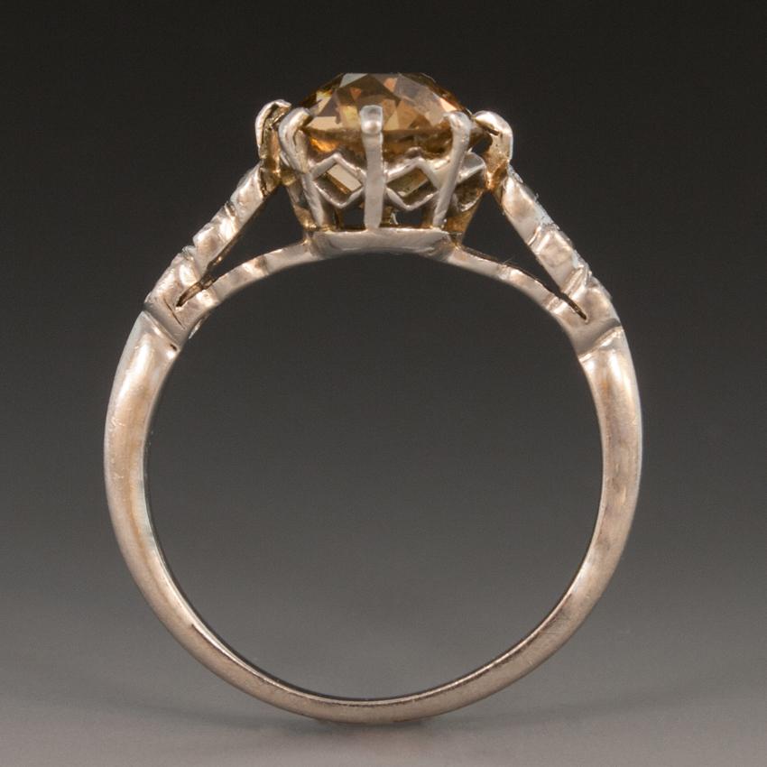 Platinum Art Deco Ring WDiamond