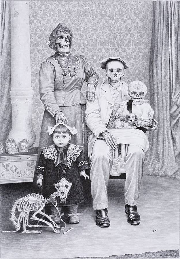 Creepy Old Halloween Family Portraits