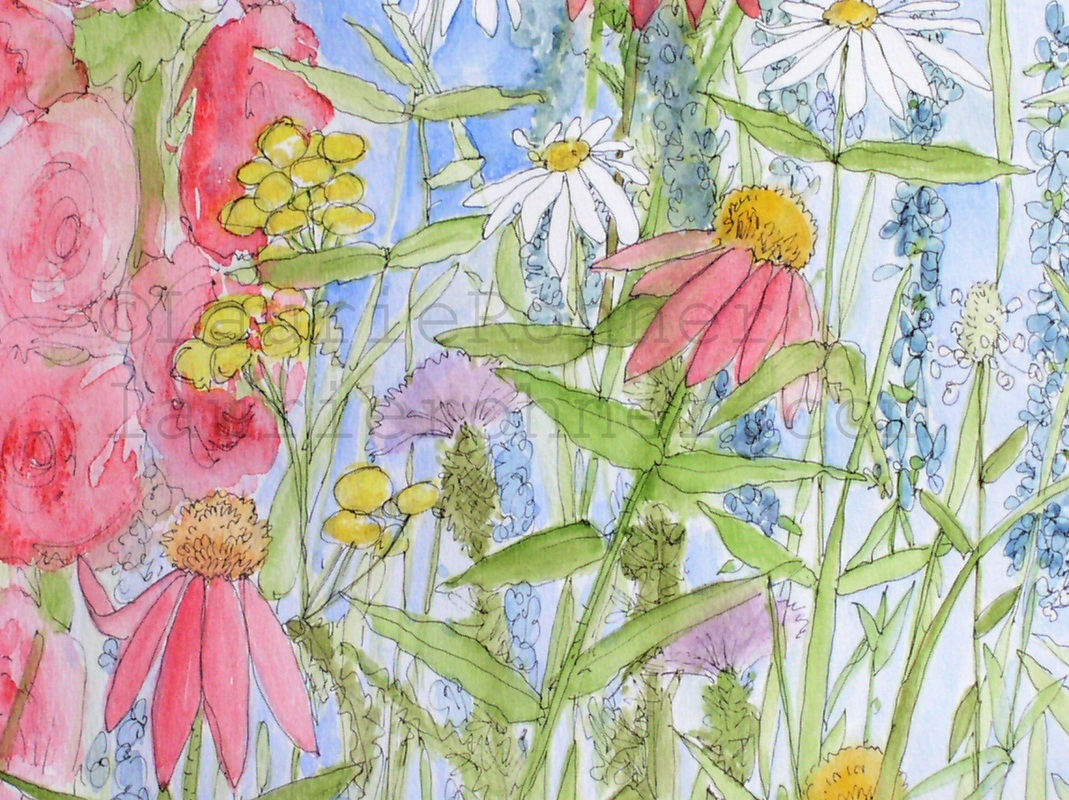watercolor botanical nature art