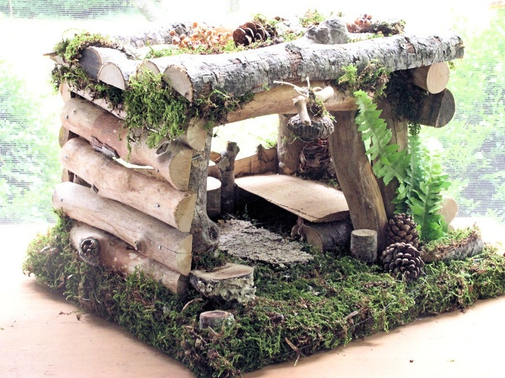 Handmade garden fairy house