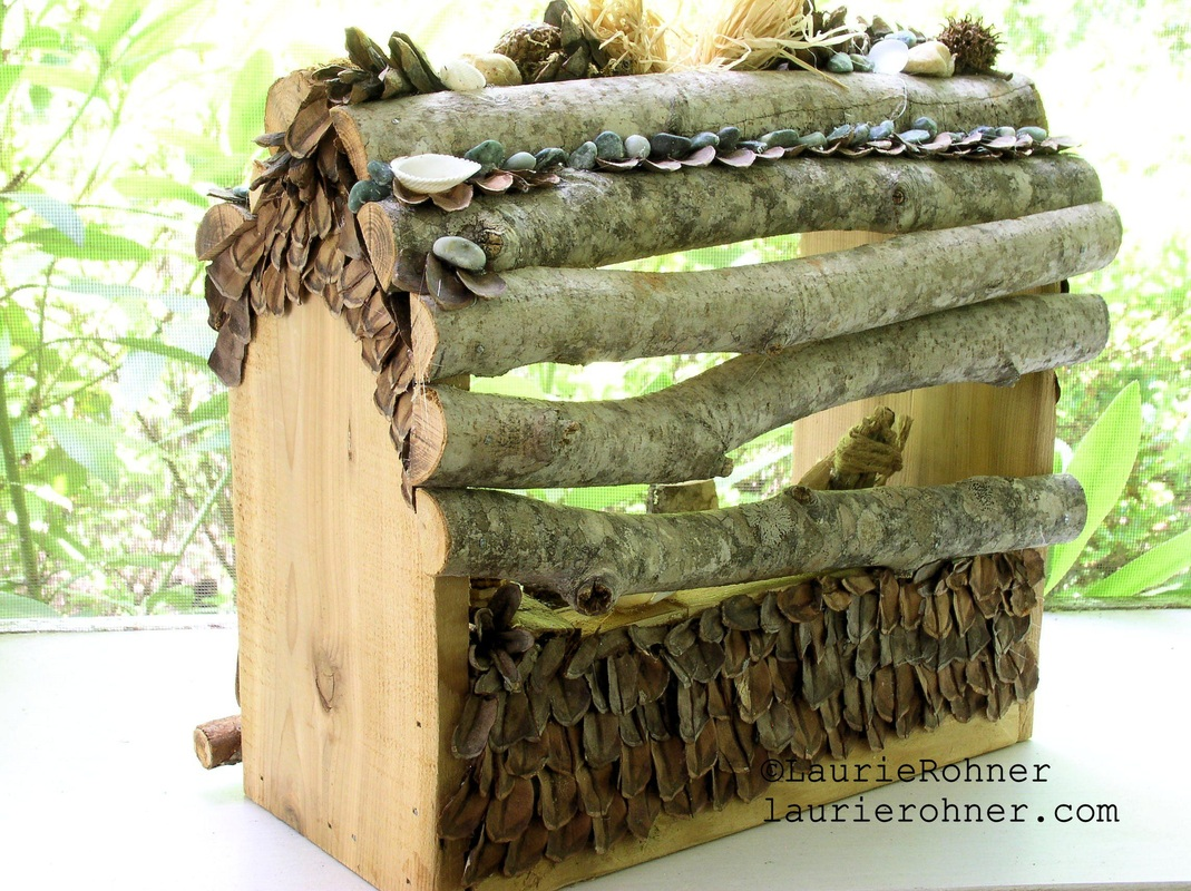 Sculpted Woodland Fairy House by Between The Weeds