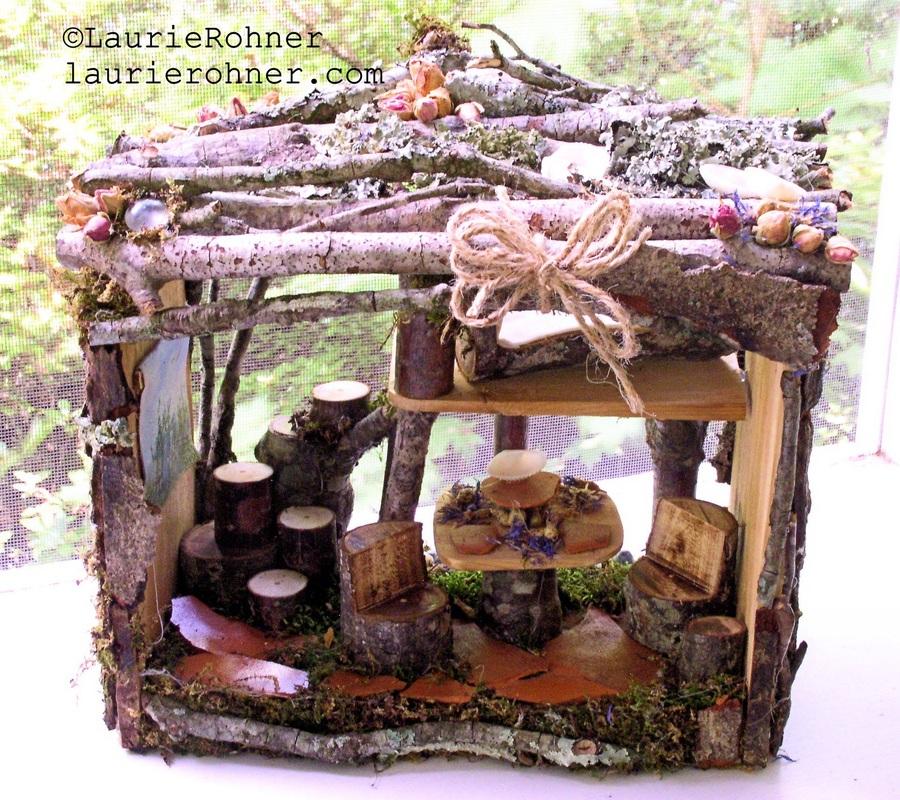 Handmade sculpted fairy house apartment