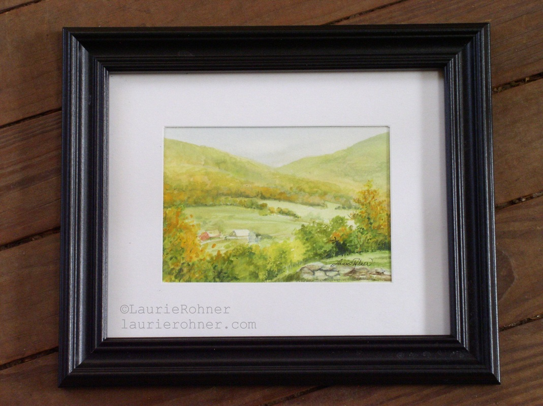 Vermont  Picturesque Scene Landscape Watercolor Nature Art Painting