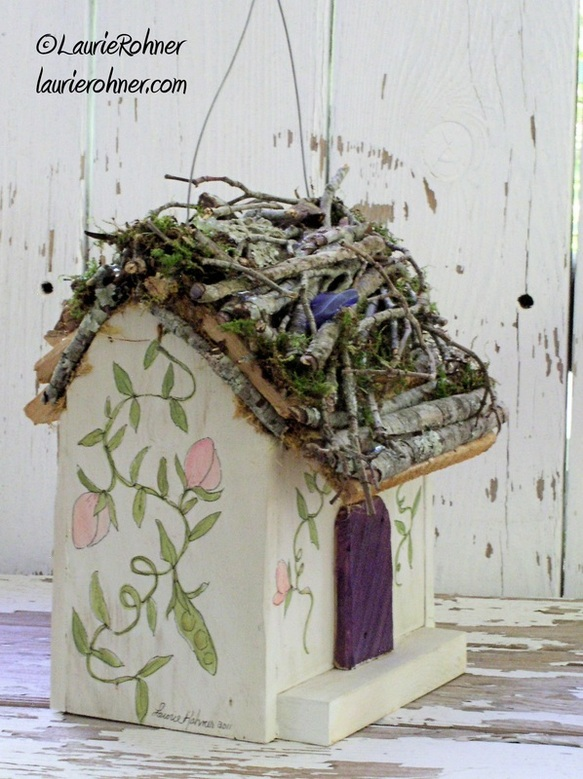 Handcrafted hanging fairy house