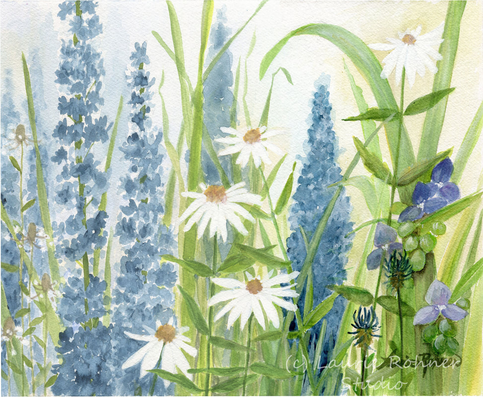 Laurie Rohner Floral Watercolor Art Botanical Garden