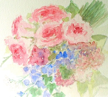 http://www.laurierohner.com/garden-rose-bouquet-watercolor-nature-art-botanical-flower.html