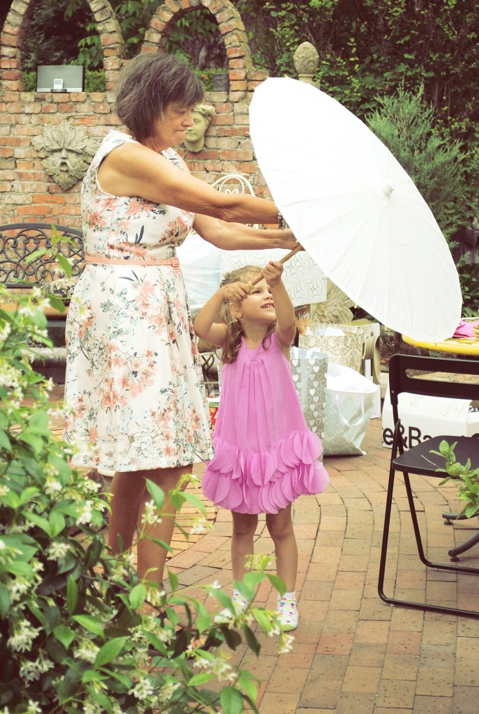 She loved the parasol!