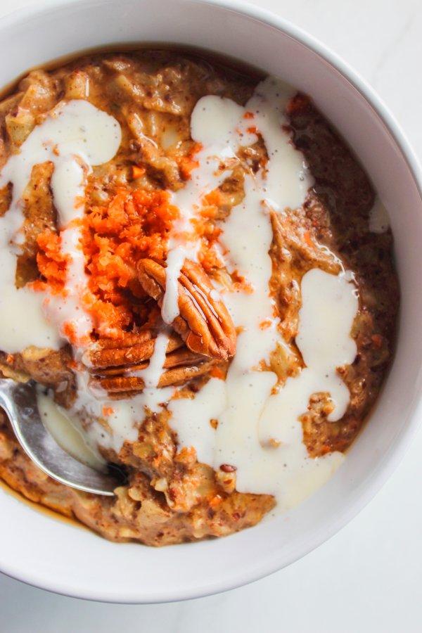 Carrot Cake Keto Oatmeal