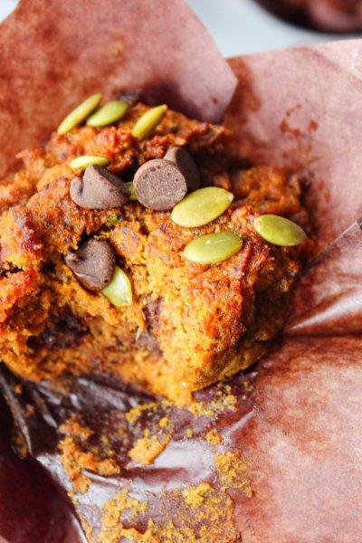 Nut-Free Paleo Chocolate Chip Pumpkin Muffins