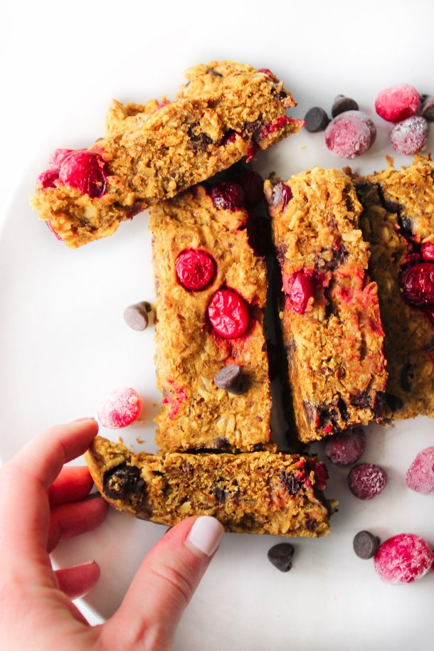 Pumpkin Cranberry Chocolate Chip Granola Breakfast Bars