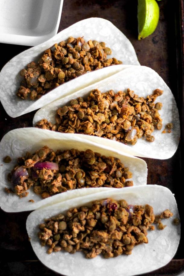 """Lentil Taco """"Meat"""""""