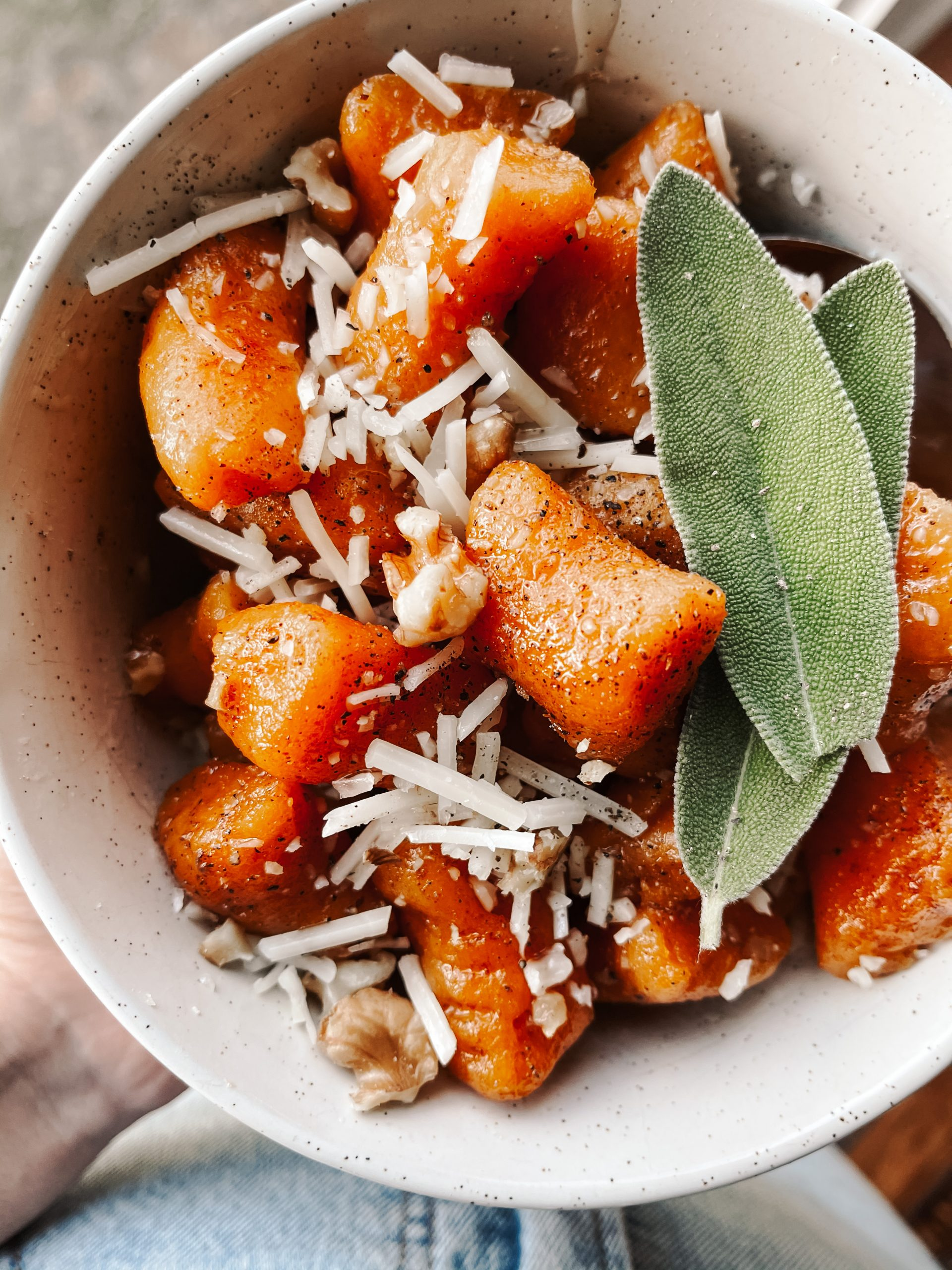 Gluten Free Sweet Potato Gnocchi With Brown Butter Sage Sauce Lau S Healthy Life