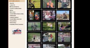 Capture d'écran du site de la marque Crickett