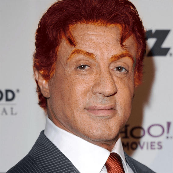 Silvester Stallone roux
