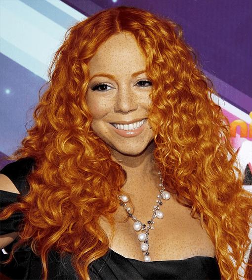 Mariah Carey rousse
