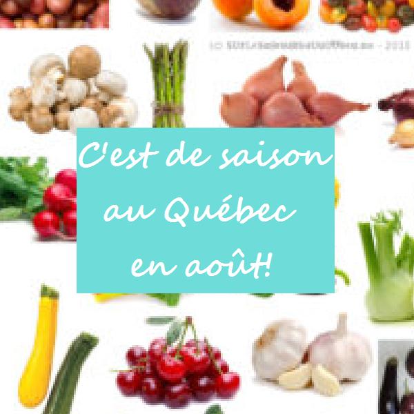C'est de saison (fruits et légumes du Québec) - août 2015