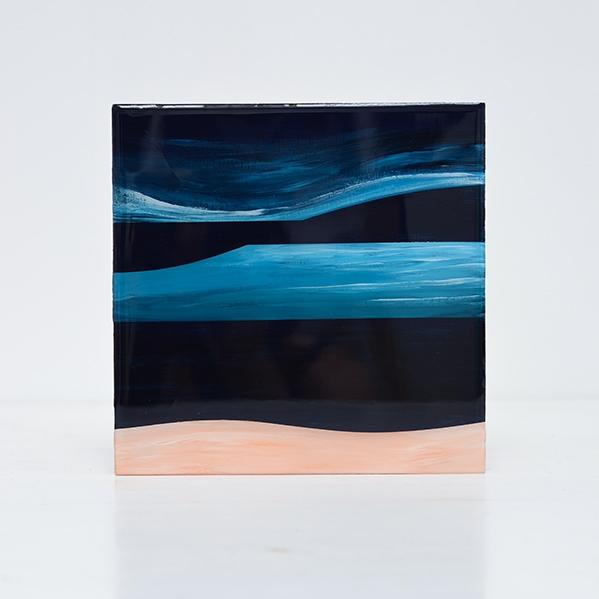 Oceans – resin op hout