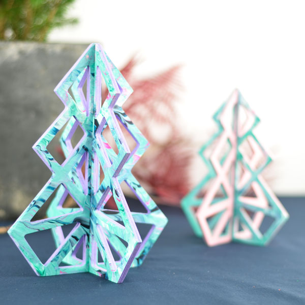 Geometrische kerstbomen 16 cm – 20 cm