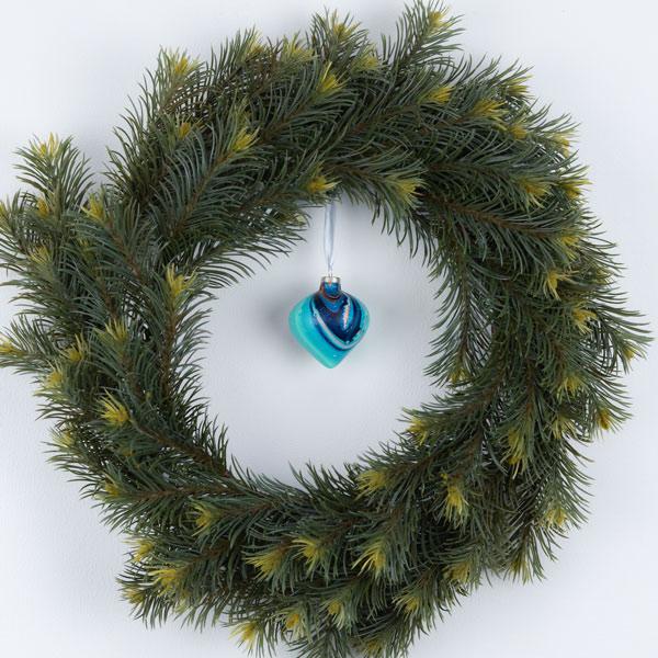 Kerstbal terracotta nr. 2