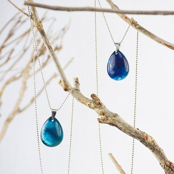 Necklace Dark Blue Drop