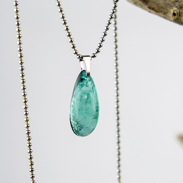 Ketting klein turquoise zilver