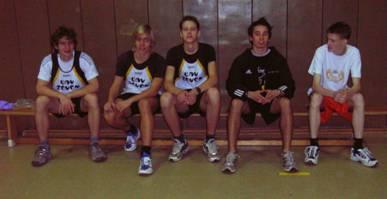 Die männliche Jugend A+B v.l.n.r.: Leon Zabel, Ingmar Fröhlich, Hannes Maxin, Kenneth Gerschler und Norbert Stöber