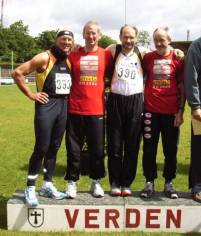 v.l.n.r.: Hans-Georg Müller, Jürgen Umann, Joachim Hickisch, Helmut Meier
