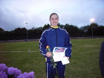 Julia Hiller LAC Quelle Fürth Überragende Siegerin 2000m Hindernis weibl. Jugend A