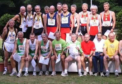 Die 5 erfolgreichen 4x100m Staffeln M50