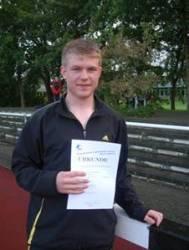 Überraschungsmeister im Vierkampf in der Altersklasse M 14 wurde Lukas Hermann  aus Sittensen.