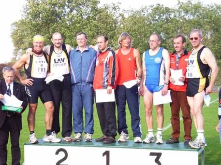 Auch 2007 Landesmeister im Fünfkampf M50 Joachim Hickisch