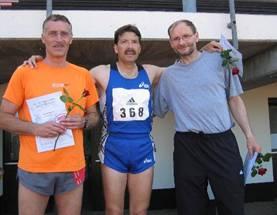 M50 200m Landesmeister Frank Kindermann, 2. Platz Günter Sievert und auf dem 3. Platz Joachim Hickisch