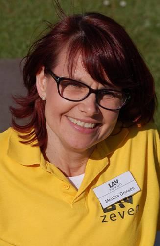 Monika Drewes erhielt die NLV-Nadel in Silber.
