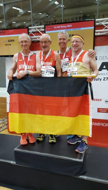 The golden Oldies M65 Europameister in 51.38 sec. Nur knapp eine Sekunde über dem Weltrekord