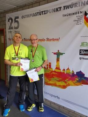 Czeslaw und Helmut mit Medaille Deutscher Meister