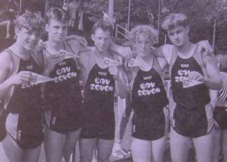 Marco Dickau, Mark Schober, Sven Dickau, Stefan Rüdiger und Kolja Ahrens