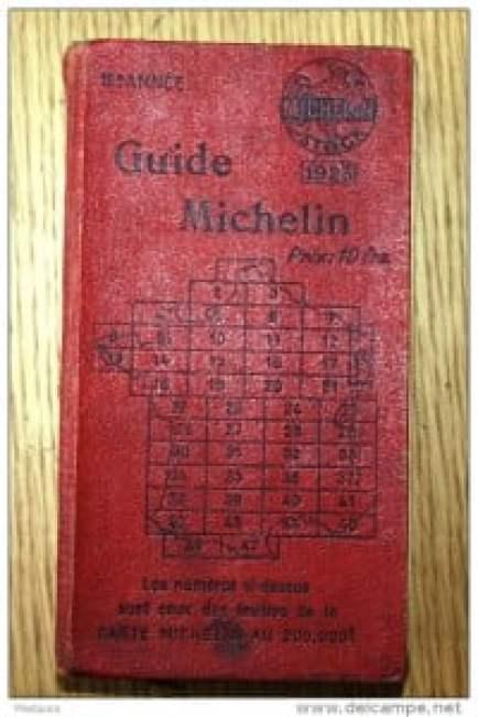 Червен Мишлен гайд от 1923 г.