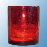 Paris Table Lamp Glass Cylinder Red Round Lavabis