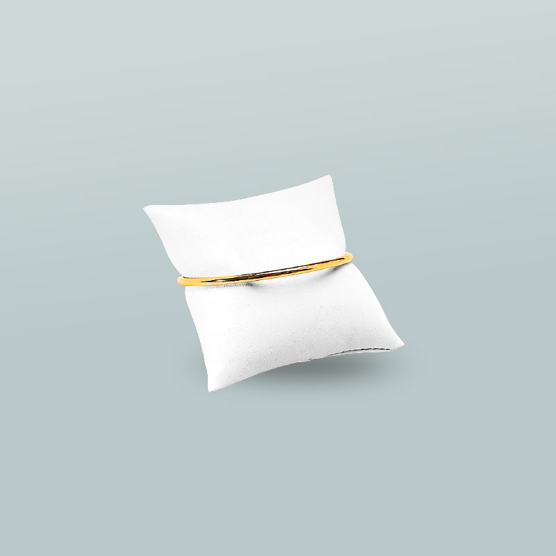 white leatherette bracelet pillow 8 x 8