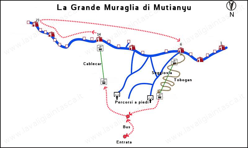 La Grande Muraglia di Mutianyu