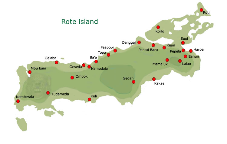 Rote island map